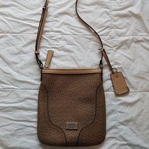 Tan Guess Crossbody Bag